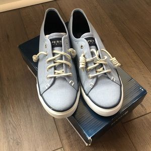 Light Blue Sperry Shoes
